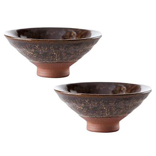 Pigeon Fleet 1,7 Unzen handgemachte weiße japanische Sake Cup Porzellan Wein Tasse Kung Fu Teetasse, 2 STK