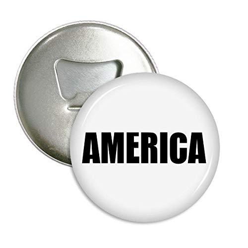 DIYthinker America Land Name Schwarz Runde Flaschenöffner Kühlschrankmagnet-Abzeichen-Knopf-3pcs Geschenk Silber