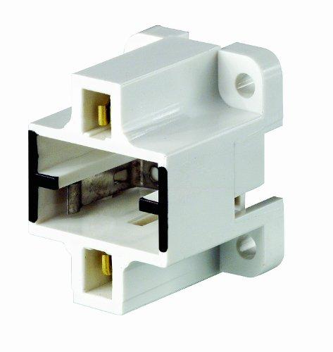 Leviton 26720-400 Gx23, Gx23-2 Base, 2-Pin, Compact Fluorescent Lampholder