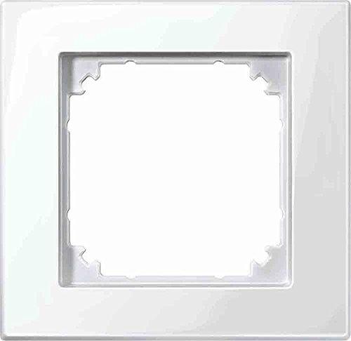 Merten 515119 M-PLAN-Rahmen, 1fach, polarweiß glänzend