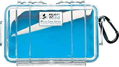 Waterproof Case | Pelican 1050 Micro Case - for iPhone, cell phone, GoPro, camera, and more (Blue/Clear)