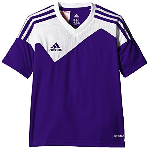 adidas Toque13 Trikot 1/4 Arm Camiseta, Hombre, Morado/Blanco, 140