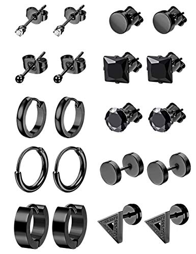 LOYALLOOK 10Pairs Stainless Steel E…