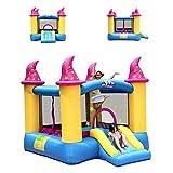 Schloss Kinderrutsche Kinder Hüpfburg Außen Kleine Hüpfen Trampoline Mädchen Jungen Kinderspielzeug Spielplatz Im Freien (Size : 236x279x213cm)