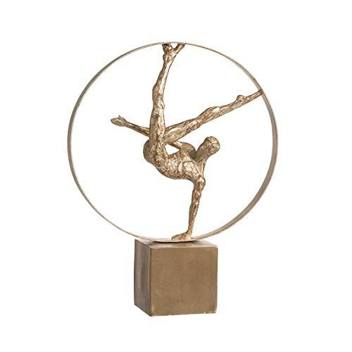 Equipo de Vida Estatua Esculturas de Cabeza Gimnasia Estatua del Cuerpo Humano Figura Deportiva Figuras de Arte Artesanía de Metal Accesorios de decoración del hogar