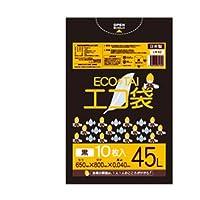 サンキョウプラテック エコ袋 45L 0.040厚 黒 10枚入×40冊 LN-62