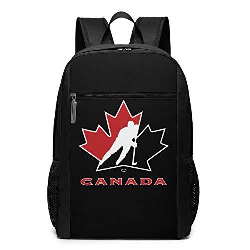GgDupp Canada National Ice Hockey Team Logo Schulranzen Reiserucksack 17 Zoll Laptop Tasche