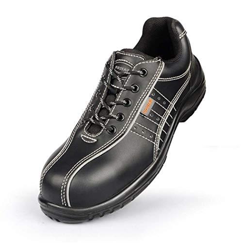 BHPL Casual beschermende schoenen, stalen teen werkschoenen, comfortabele casual lichtgewicht slip op slip resistente industriële constructie Sneakers