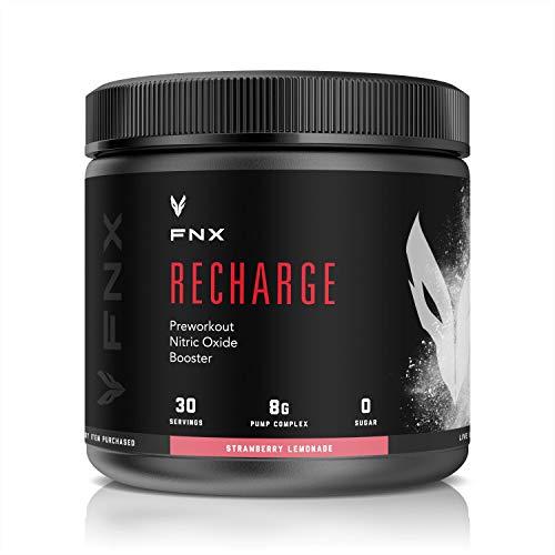 FNX Recharge PreWorkout Nitric Oxide Booster (Strawberry Lemonade)