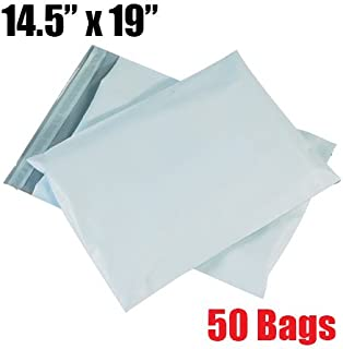 iMBAPrice50-14.5x19 Premium Matte Finish Self-Sealing Non-Padded White Poly Mailers/Mailing Envelopes/Bags (iMBA-6PM-50)