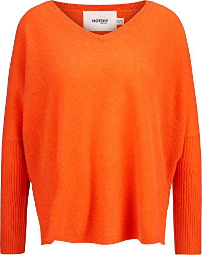 Not Shy Damen Kaschmir Pullover in Orange XS/S