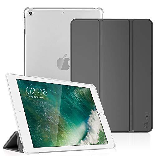 Fintie Hoes voor iPad 9,7 inch 2018/2017, ultradunne beschermhoes met transparante achterkant, met automatische slaap-waakfunctie voor 9,7 inch iPad 6. Generation / 5e generatie. hemelgrijs