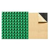 MuMa Pannelli in Schiuma Acustica, Schiuma Fonoassorbente,10 Pezzi 50 X 50 X 5 Cm,Pannelli Acustici in Schiuma di Cotone Fonoassorbente A Forma Piramidale(Color:Verde,Size:50CM × 50CM× 5CM)