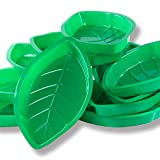 Palm Leaf Hawaii Style Food Reusable Snack Tray, Cookies, Chips, Candy Dip for Jungle Island Themed...