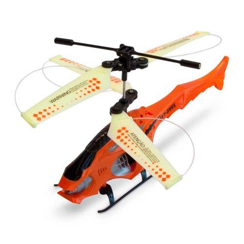 Hover Champs - Helicóptero con radiocontrol Glow in Dark: Sky-Dash, 15 cm (Giochi Preziosi 81850)
