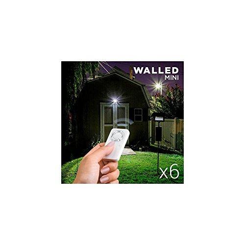 Omnidomo Walled Spot avec télécommande Blanc 8,5 x 2 x 8,5 cm