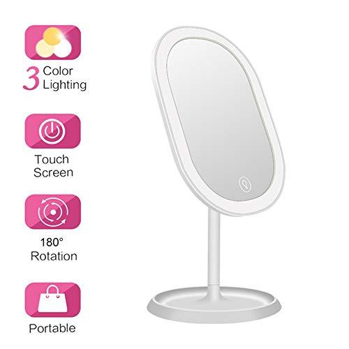 Make-up spiegel met 180 ° draaibare make-up spiegel scheerspiegel make-up spiegel met verstelbare LED-licht voor badkamer cosmeticaStudio