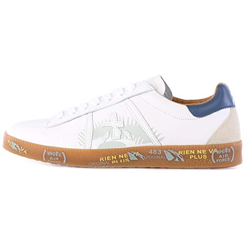 PREMIATA Andy 5138 - Zapatillas para Hombre, Color Blanco Blanco Size: 44 EU