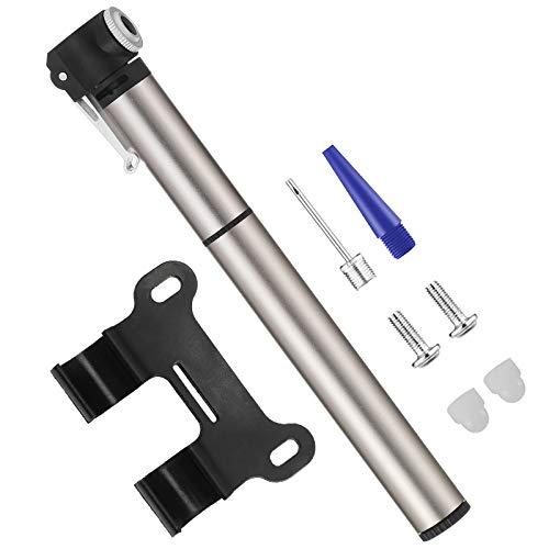 QIAOYI Mini Bomba para Bicicleta, Presta Schrader 8.3 Bar (120 PSI), Portátil, Compacto, Duradero, Rápido y Fácil de Usar, Bomba de Aire Bicicleta para Carretera Bicicletas de Montaña, Pelota y BMX