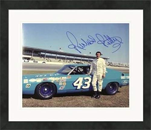 Richard Petty NASCAR Auto Racing Double Matted 8x10 Photograph Car #43