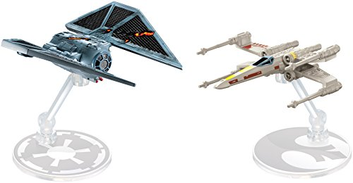 Hot Wheels Star Wars Rogue One The Stricker vs. X-Wing Red Five Vehicle (2 Unidades), DXM38