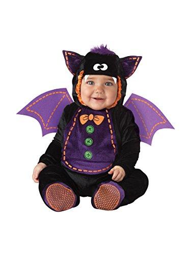 InCharacter Costumes Baby Bat Costume, Black/Purple, Medium