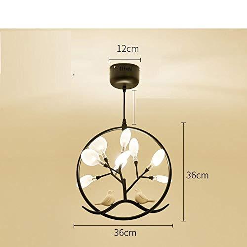 Kreativer kleiner Leuchter, einfacher moderner Vogelleuchter, Hauptflurlampe, personalisierte Nachttischlampe, Gangportallampe@Schwarzes gelbes Licht des Mattglases LED