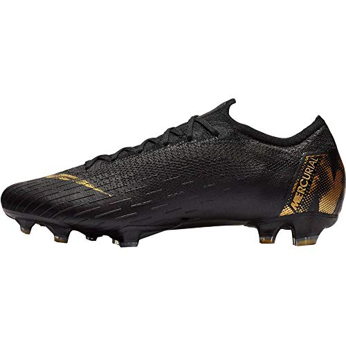 Nike Vapor 12 Elite FG Mens Football Boots AH7380 Soccer Cleats (UK 9 US 10 EU 44, Black Vivid Gold 077)