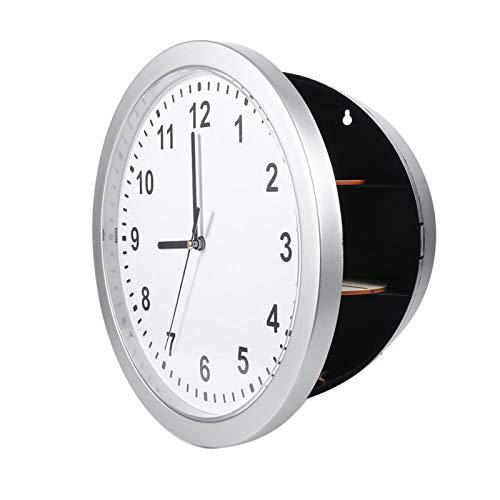 Caja fuerte del reloj de pared, caja fuerte del reloj de Chacerls Reloj de pared secreto oculto seguro Caja de contenedor seguro para guardar dinero, joyas, objetos de valor