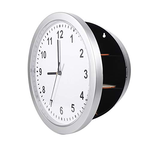 Reloj de pared con caja fuerte oculta, compartimento de desvío seguro para reloj, sala de estar Durbale para estudio de oficina en casa