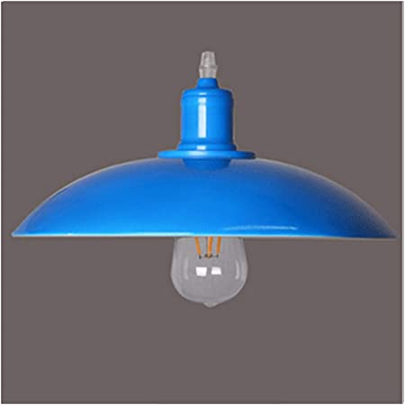 Vintage Plafoniera Lampadario a Sospensione Lampada in Metallo E27 Pendente Lampada Retro Lampada a Soffitto blu per Loft Bar Ristorante Decorazione