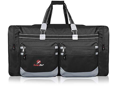 Roamlite Extra Large XXL Holdall - X-L Size Very Big Travel Bags - Huge Duffle for Storage, Travelling, Sports Kit or Laundry - 74 cm x38x36-100 Litre Black RL04KK