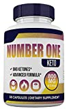 Number ONE Keto - BHB and 800MG Proprietary Blend - 1 Month Supply - 60 Capsules