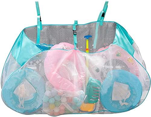 aturustex 57'X29' Extra Large Pool Storage Bag Above Ground Pool Side Organizer Netting for Toys Large Pool Storage Bag