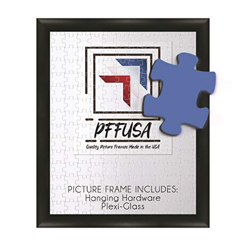 Puzzle Frame | Picture Frame | Poster Frame | 1.5 Inch Black MDF Frame | Plexi Glass and Hanging Hardware Included | Many Popular (20x28)