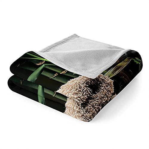 Mantas para Sofa, Verano Manta de Franela Mantas para Cama Polar Súper Suave, Batamanta para Cama o Sofá 130x150 cm Piedra Zen