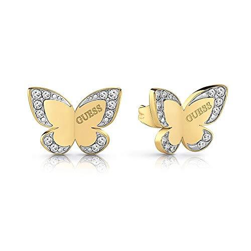 Indovinare orecchini farfalla amore placcato oro chirurgica in acciaio inox logo UBE78011 [AC1127]