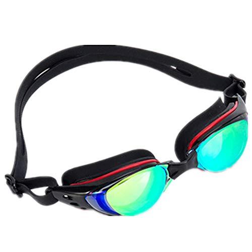 LWX Gafas de Natación, Gafas de Natación a Prueba de Fugas y Resistentes a los Rayos UV Correa de Hombro Ajustable para Hombres y Mujeres Jóvenes