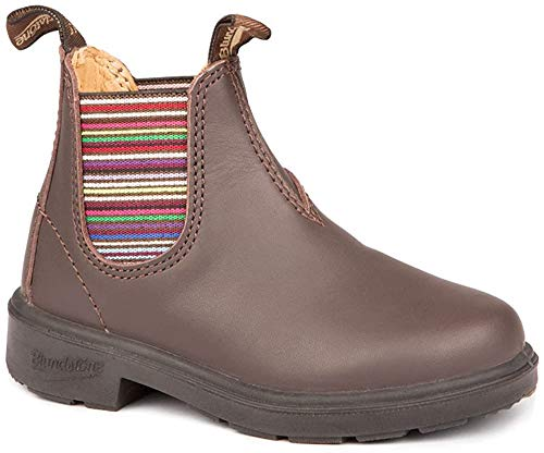 Blundstone Blundstone Unisex-Kinder Classic 1413 Chelsea Boots Stiefel, Braun (Brown Stripes Brown Stripes), 35 EU (3 UK)