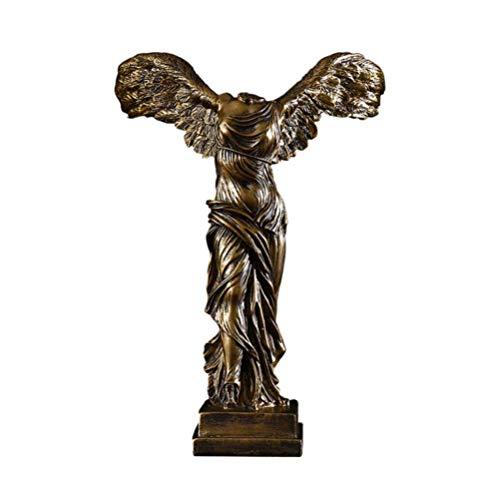 zyl Escultura de Samotracia Estatua de la Diosa de la Victoria alada Estatua Griega Antigua Adorno de Escritorio para la decoración del jardín de la Oficina en casa Tamaño 2