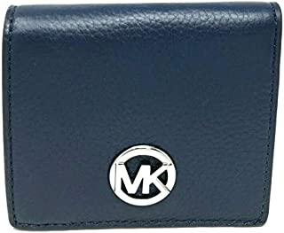 Michael Kors Women's Pebbled Fulton Carryall Leather Wallet -Navy Blue