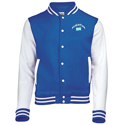 Supportershop–Argentina–Chaqueta Bicolor Adulto Mixta, 5060570682841, Azul, FR : 2XL (Taille Fabricant : XXL)