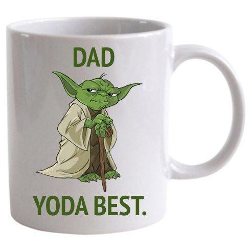 Taza con texto 'Dad yoda', diseño de Star Wars'