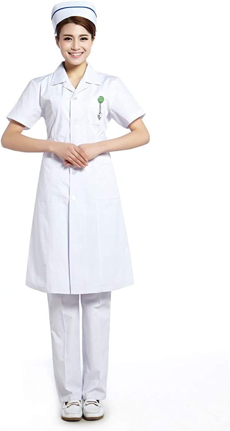 ESENHUANG White Lab Coat Women Medical Scrubs Nurse Uniforms Uniforms for Hosp