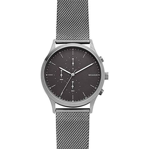 Skagen Herren Chronograph Quarz Uhr mit Edelstahl Armband SKW6476