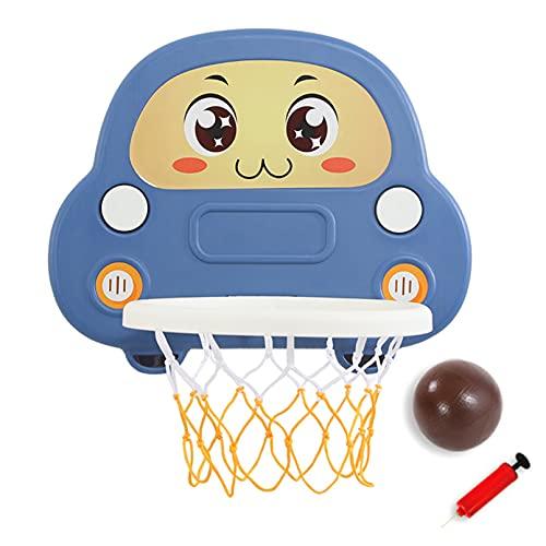 Canasta Baloncesto Pared, Plegable Niños Aro Baloncesto, Material De HDPE, La Altura Se Puede Ajustar A Voluntad, Instalación De Ventosa, Adecuado para Exteriores E Interiores,Azul