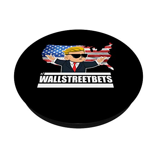 41Xe99guL8L - Wallstreetbets Stock Market Options Trading WSB Tendies PopSockets PopGrip: Swappable Grip for Phones & Tablets