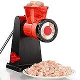 TAMUME Tritacarne Manuale in Acciaio Inox con Insaccatrice per Salsiccia, Robot da Cucina