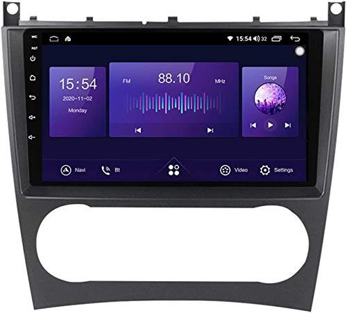Android10 Car Stereo Radio Sat Nav Navegación GPS para Mercedes-Benz C Class W203 2011-2015 Reproductor MP5 DSP Control del Volante Bluetooth+ Cámara Respaldo