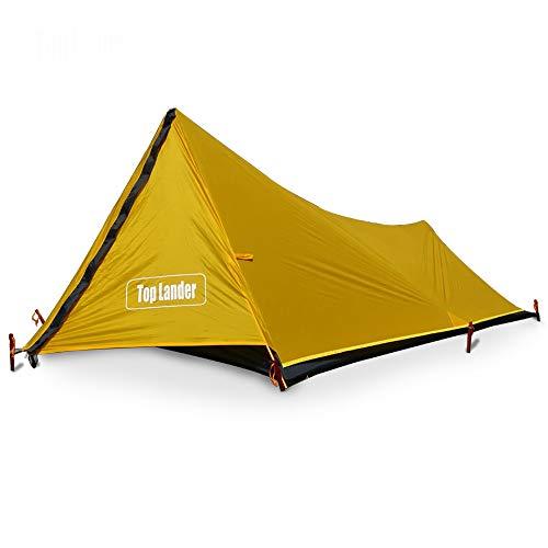 Mdsfe A Tower Ultralight Tent 1 Person Backpacking Waterproof Solo Single Bivvy Tent Camp 20D Silicone Outdoor Camping Tent One Man-Yellow,China